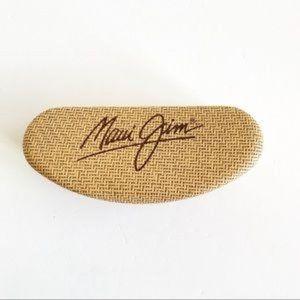 Maui Jim Faux Rattan Print Sunglasses Case Only
